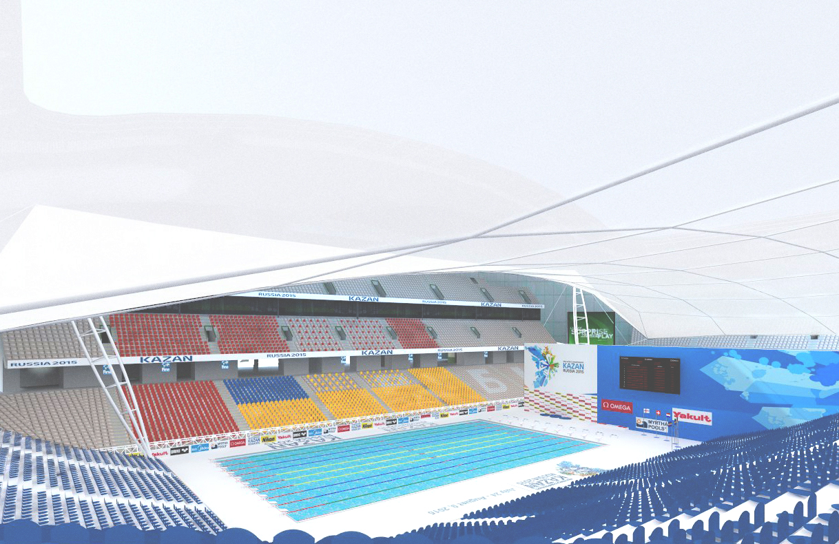 TENSILE STRUCTURE FOR 2015 SWIMMING WORLD COMPETITIONS